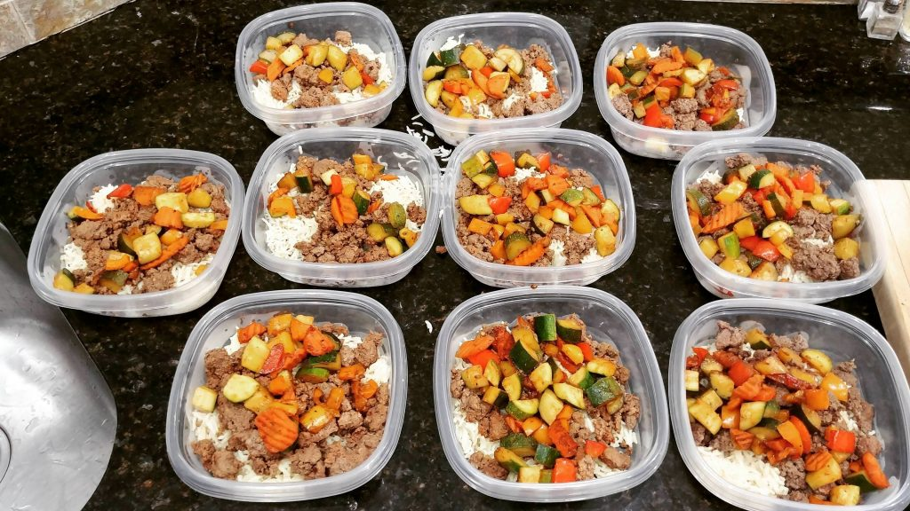vertical diet meal prep